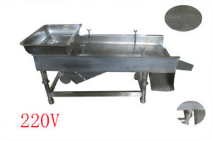 1 Pc Stainless Linear Vibrating Screen 220v 1 Layer Separation Sieve Platform