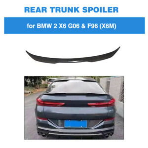 Fit For Bmw X6 G06 2020up Rear Trunk Spoiler Boot Lid Wing Carbon Fiber Refit