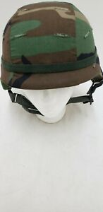 Military Issued Woodland Made with Kevlar Helmet Complete Small $66.95