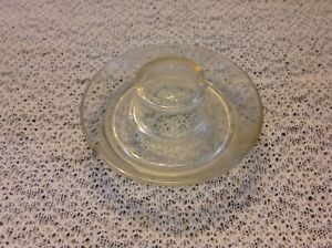 Vintage Glass Chicken Watering Base Feeder Patent 126997 Bentzen Niggeler