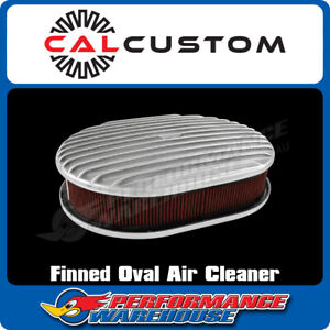 Oval Air Cleaner Full Finned Polished Suit 5 1 8 Neck Holley Edelbrock Carb