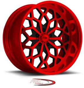 18 Pro Wheels Rims Snowflake Candy Red Year Forged Billet Aluminum One Line