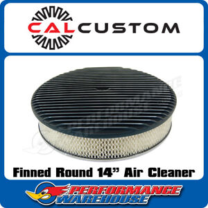 14 Round Air Cleaner Full Finned Black Suit 5 1 8 Neck Holley Edelbrock