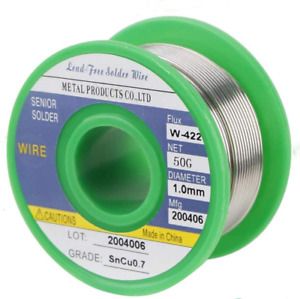 Lead Free Solder Wire Sn99 3 cu0 7 1 0mm 50g With Rosin Core For Electrical Sold