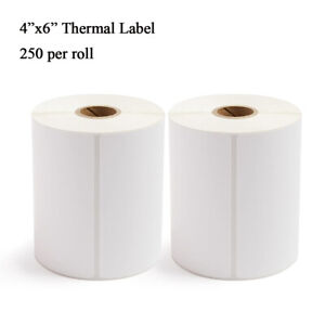 2 Rolls 4x6 Direct Thermal Shipping Labels For Zebra Eltron Rollo 250 Per Roll