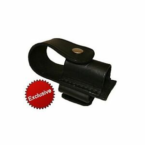 Boston Leather Exclusive Flashlight Holder For Radio Strap And Suspenders