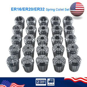 Er16 Er20 Er32 Spring Collet Set Fits For Cnc Milling Lathe Engraving Machine