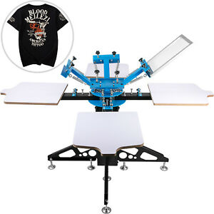 Screen Printer Screen Printing Machine 4 Color 4 Station For T shirts