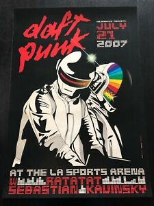 Daft Punk 2007 La Sports Arena Gianni Rossi New 206 500 Signed Le Offset Print
