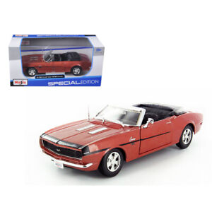 1968 Chevrolet Camaro Ss 396 Convertible Bronze 1 24 Diecast Model Car By Mai