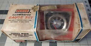 Dixco Vintage Blueline Oil Pressure 2 1 16 Gauge Model 112bw New Old Stock