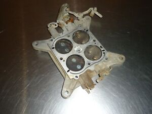 Holley 4 barrel Carburetor Carb Baseplate Vacuum Secondary 600 Cfm Ford Linkage