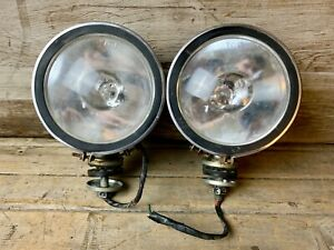 Vintage Set Of 2 Metal 5 Unbranded Kc Taiwan 4x4 Off road Fog Driving Lights