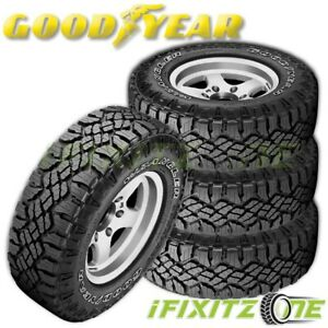 4 Goodyear Wrangler Duratrac All Season Lt245 75r16 Owl All Terrain 3pmsf Tires