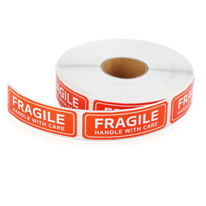 Fragile Label Stickers Handle With Care Adhesive Warning Signs Shipping Tags Usa
