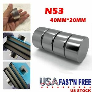 Usa Round N52 Large Neodymium Rare Earth Magnet Big Super Strong Huge 40mm 20mm