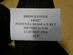 2 Nos Bridgestone Potenza Re960 A s 205 55 16 91h Rft Tires 145427 Q1