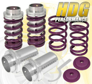 For 93 97 Corolla Adjustable Lower Spring Coilovers Sleeve Suspension Set Purple