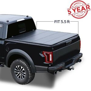 5 5 Ft Bed Cover Hard Tri Fold Fits 2015 2021 Ford F150