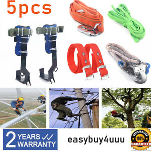 Tree pole Climbing Spike Set Safety Belt Straps Adjustable Lanyard Carabiner