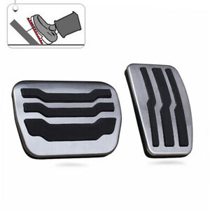 No Drill Steel Brake Gas Pedal Pad Cover Cap Accessories For 2009 2014 Ford F150