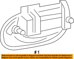 Ford Oem 04 16 Expedition Rear Door handle Outside Exterior Right 9l1z7826604aa