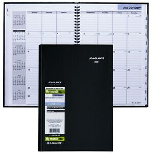 2022 At a glance Dayminder G470h Monthly Planner Hardcover 7 7 8 X 11 3 4