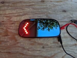 2000 2005 Cadillac Deville Left Driver Mirror Glass Heated Turn Signal Blue