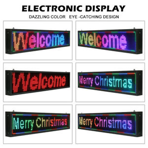 New P10 40 X 8 Inch Seven Color Led Sign Programmable Scrolling Message Display