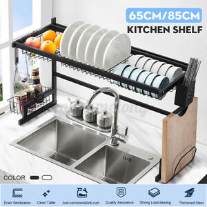 33 5 25 5 Stainless Steel Dish Drying Rack Stand Household Storage Tableware Us