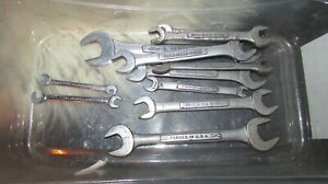 Craftsman V Vv Open End Wrench Metric Sae Many Sizes Usa