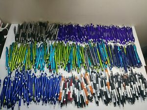 Bulk Lot Of 400 Misprint Mostly Plastic Retractable Ball Point Pens Wholesale