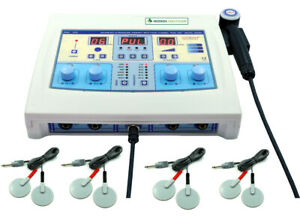 Combination Therapy Ultrasound 1mhz Therapy And 4 Channel Electrotherapy Machine
