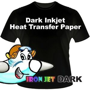 Htv Iron On Dark Inkjet Paper Heat Transfer Paper 50 Pk 8 5x11