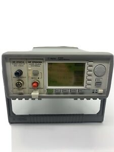 Agilent 8163a Optical Power Meter With 81531a And 81554sm Power laser Source