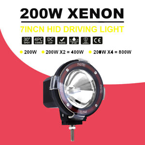7inch 200w Hid Driving Lights Offroad Light Spotlight Auxiliary Lamp For Suvs