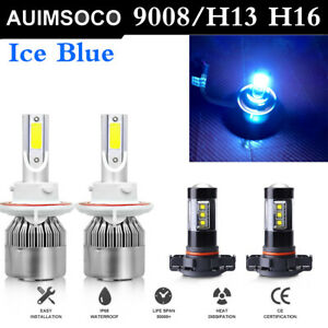 For Jeep Patriot 2007 2017 Led Headlight Hi Low Lamps Fog Lights Bulbs Blue