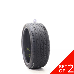 Set Of 2 Used 235 35zr19 Pirelli P Zero Nero Gt 91y 7 7 5 32