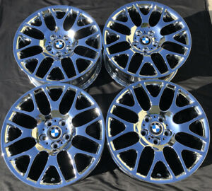 4 New Chrome 18 Bmw 323i 325i 328i 330i 335i Z3 Z4 E90 Oem Wheels Rims 59615