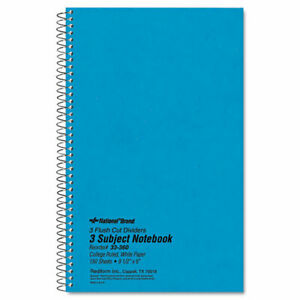 Rediform Xtreme Cover 150 sheet 3 subject Notebook 150 Sheets Coilock 16
