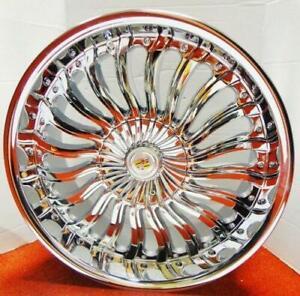 4 Back In Stock swirl Chrome 20 X 8 5 Wheels Fits Most Cadillac