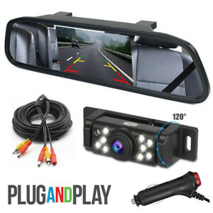 Car Backup Camera Rear View Parking System With Night Vision 5 Mirror Monitor