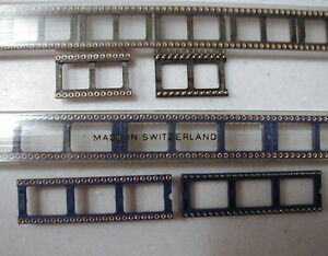 Augat Style 48 Pin Machined Pin Dip Ic Sockets 6 In Wide 8 Pcs Nos
