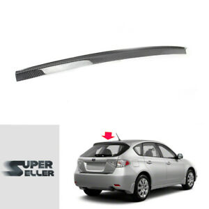 Fit For Subaru Impreza Wrx 3th Wagon Hatchback 08 14 Carbon Rear Roof Spoiler
