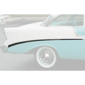 Chevy Rear Quarter Panel Molding Bel Air Right For 2 door Show Quality 1956