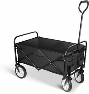 Rolling Folding Rolling Collapsible Garden Cart Outdoor Camping Wagon Utility