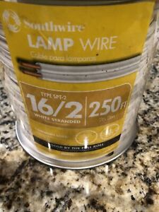 Southwire 16 2 Spt 2 300 Volts Lamp Cord Wire 250 Ft White Stranded
