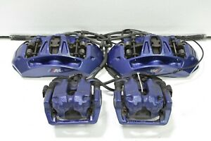 2013 2014 2015 2016 Bmw M5 F10 Blue Brembo Brake Calipers Set Kit Oem