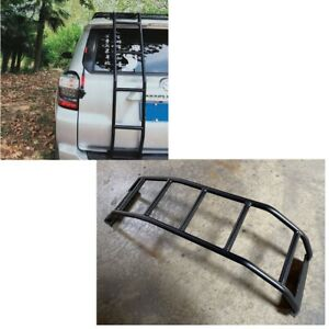 For 10 20 Toyota 4runner Rear Ladder Gen 5 Black Aluminum
