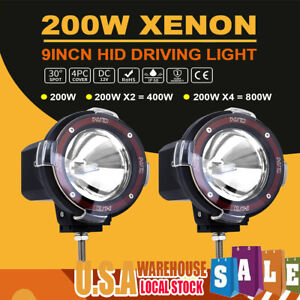 2 200w Waterproof Hid Xenon Work Lights Spot Light For Off road Driving Vehicle